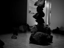 stone garden composition, at Myndlistaskólinn í Reykjavík, photo credit: Eduardo Abrantes